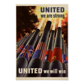 Patriotic World War United Poster
