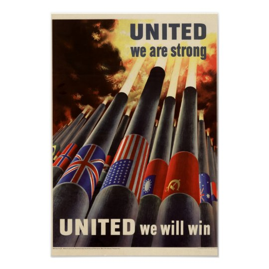 Patriotic World War United Poster