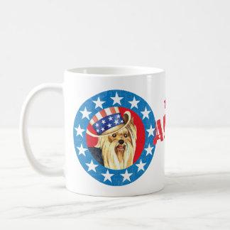 Patriotic Yorkie Coffee Mug