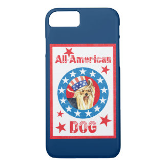 Patriotic Yorkie iPhone 8/7 Case