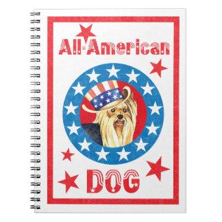 Patriotic Yorkie Notebook
