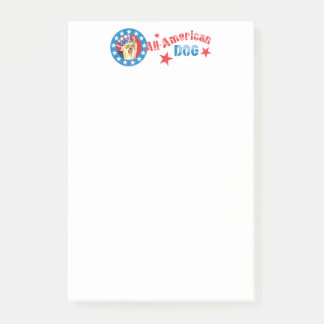 Patriotic Yorkie Post-it® Notes