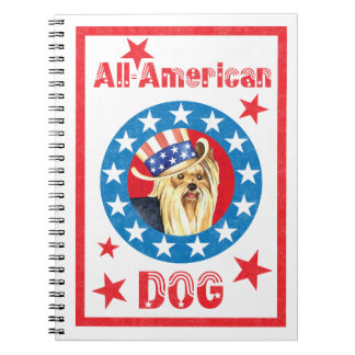 Patriotic Yorkie Spiral Notebook