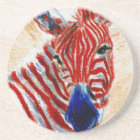 Patriotic Zebra Coasters