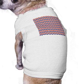 Patriotic Zigs & Zags Doggie Tshirt
