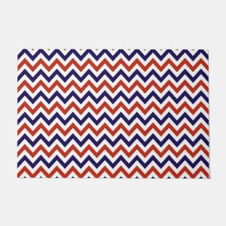Patriotic Zigs & Zags Doormat