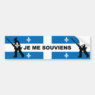 Patriots 1837 I REMEMBER (QUEBEC) Bumper Sticker