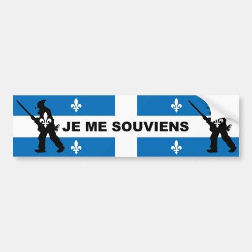 Patriots 1837 I REMEMBER (QUEBEC) Bumper Stickers