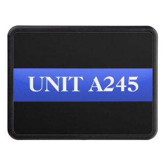 Patrol Number - Thin Blue Line Hitch Cover