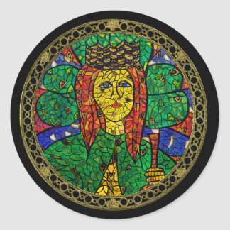 Patron Saint Of Depression And Anxiety St Dymphna Classic Round Sticker