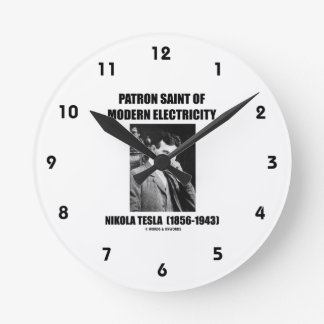 Patron Saint Of Modern Electricity (Nikola Tesla) Wall Clock