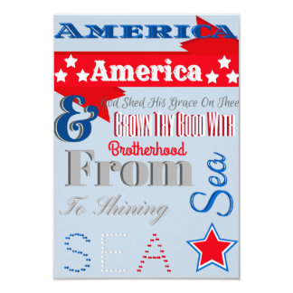 Patrotic 4th Of July Invitation