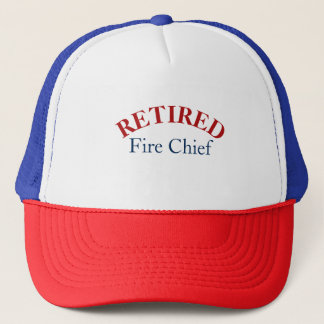 Patrotic Retired Fire Chief Cap