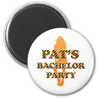 Pat's Bachelor Party 2 Inch Round Magnet