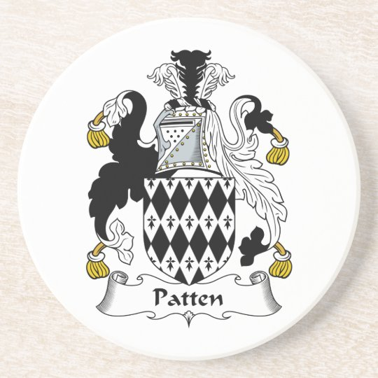 Patten Family Crest Coaster