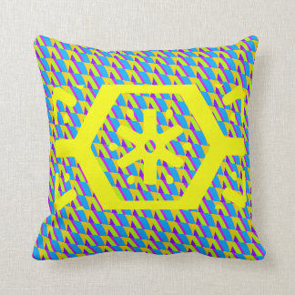 patter pillow green and yellow bright colors