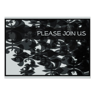"""Patterened 5"""" X 7"""" Invitation Card"""