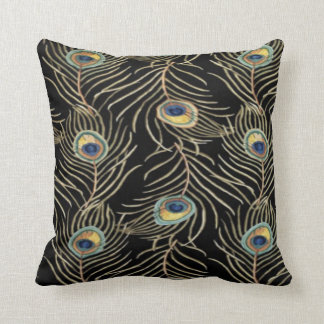 Pattern #5- peacock feathers throw pillow