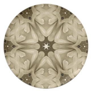 Pattern and Optic Melamine Dinnerware Plate. Dinner Plate
