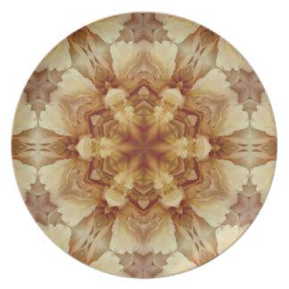 Pattern and Optic Melamine Dinnerware Plate. Dinner Plates