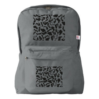 Pattern black Women's shoes Backpack