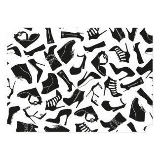 Pattern black Women's shoes Card