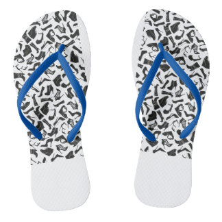 Pattern black Women's shoes Flip Flops