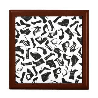 Pattern black Women's shoes Gift Box