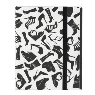 Pattern black Women's shoes iPad Cover