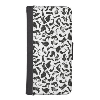 Pattern black Women's shoes iPhone SE/5/5s Wallet Case