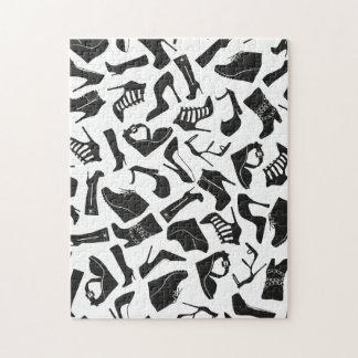 Pattern black Women's shoes Jigsaw Puzzle
