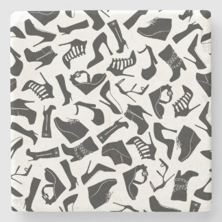 Pattern black Women's shoes Stone Coaster