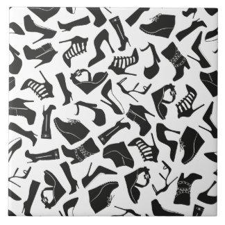 Pattern black Women's shoes Tile