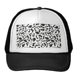 Pattern black Women's shoes Trucker Hat