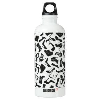 Pattern black Women's shoes Water Bottle