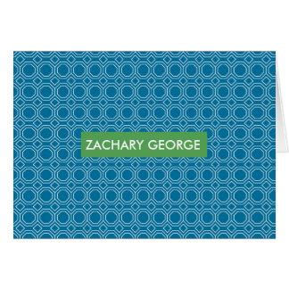 Pattern Blue Announcement Notecard