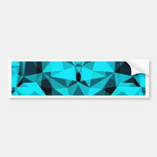 pattern blue bumper sticker
