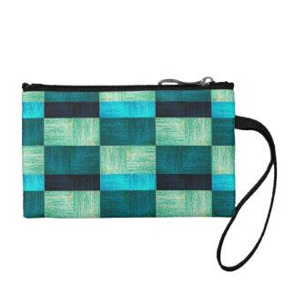 Pattern blue-green coin purse