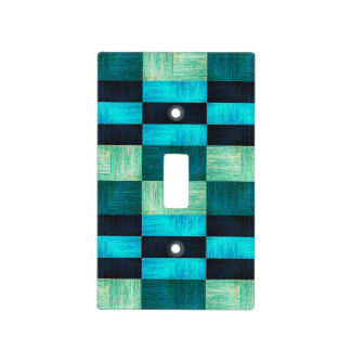 Pattern blue-green light switch cover