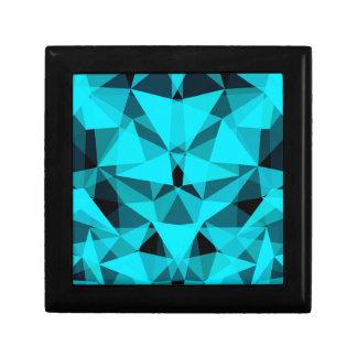 pattern blue jewelry box