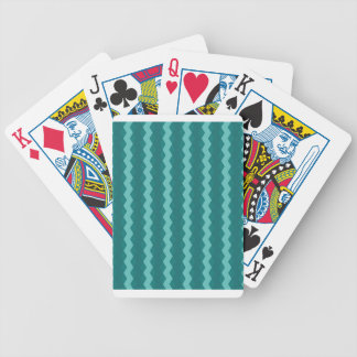 Pattern Blue Stripes - Lines zigzag Bicycle Playing Cards