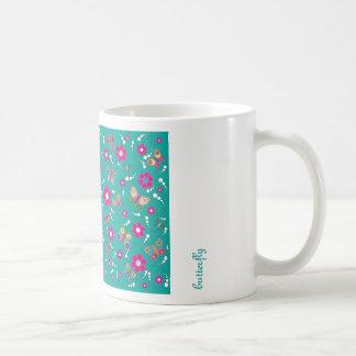 pattern butterfly classic white coffee mug