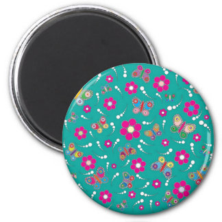 pattern butterfly refrigerator magnet