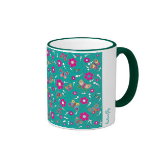 pattern butterfly mugs