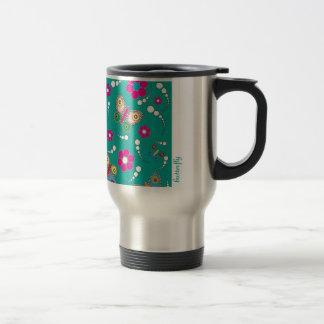 pattern butterfly coffee mug