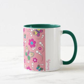 pattern butterfly pink mug