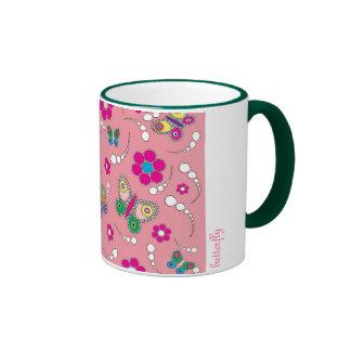 pattern butterfly pink mugs