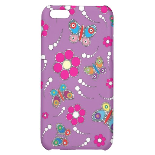pattern butterfly purple iPhone 5C cases