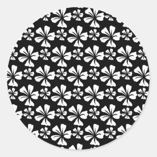 pattern C Classic Round Sticker
