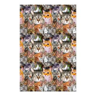 Pattern Cats Stationery